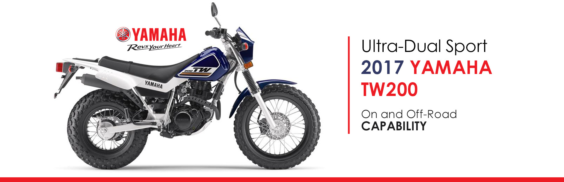 2017 Yamaha TW200: Click here to view the model.