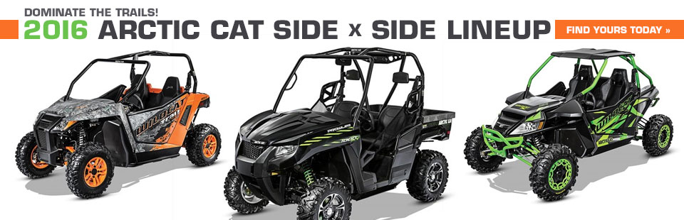 2016 Arctic Cat Side x Side Lineup: Click here to view the models.