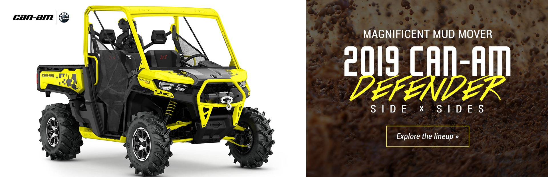 2019 Can-Am Defender Side x Sides: Click here to view the models.