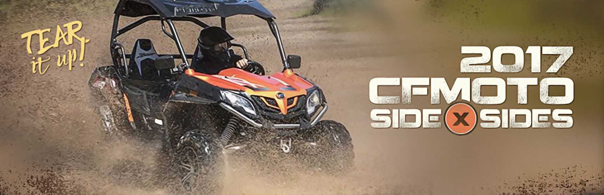 2017 CFMOTO side x sides. Click here to view the models