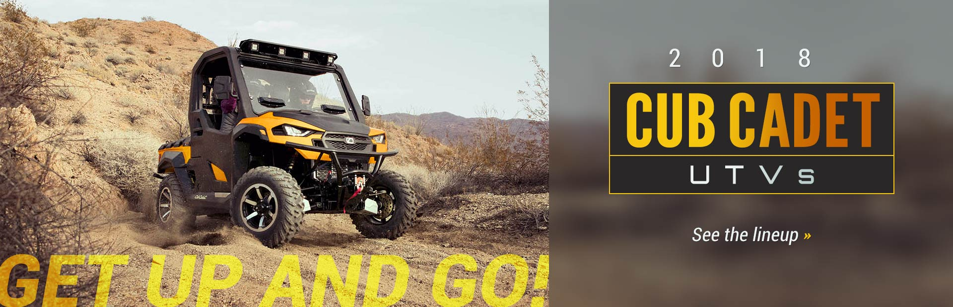 2018 Cub Cadet UTVs: Click here to view the lineup.