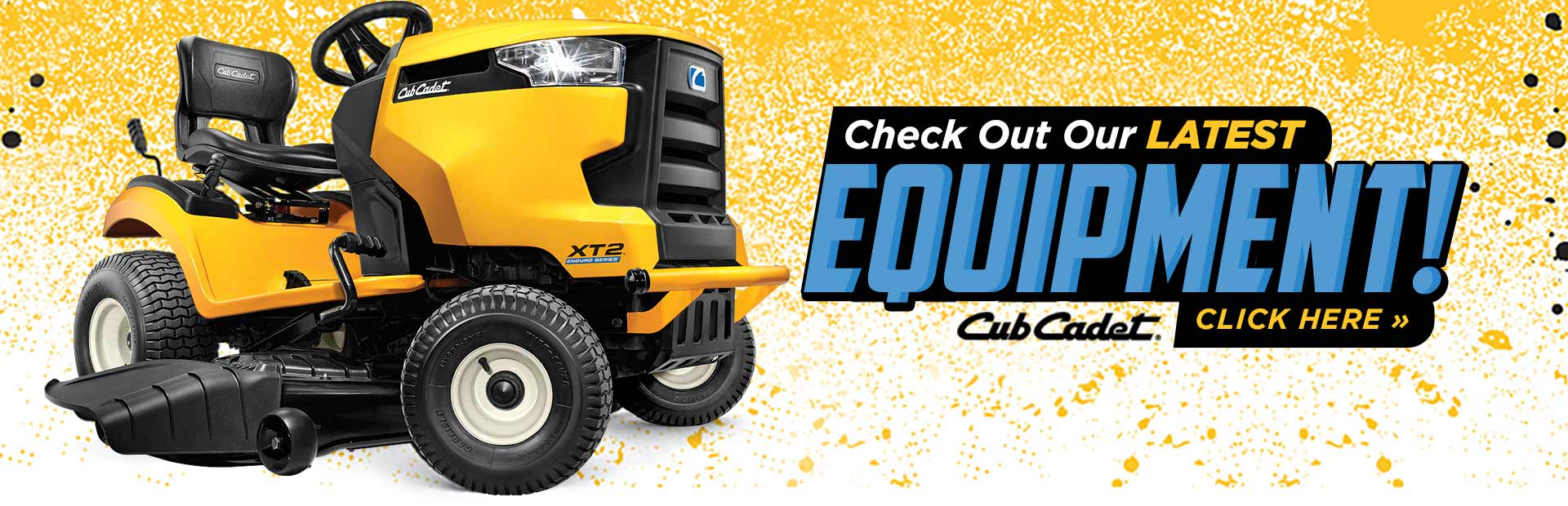 View our latest Cub Cadet equipment!