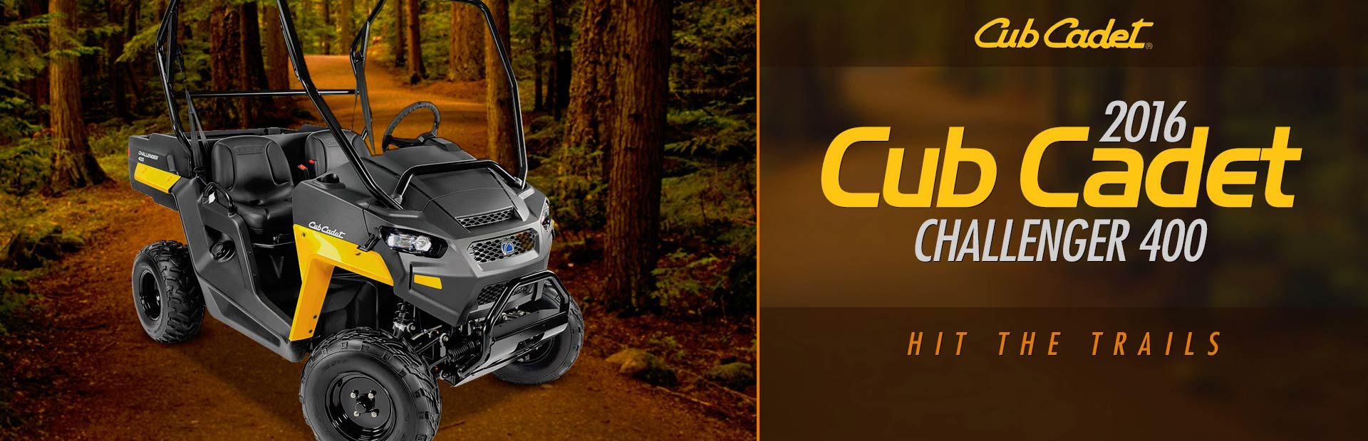2016 Cub Cadet Challenger 400: Click here to view the model.