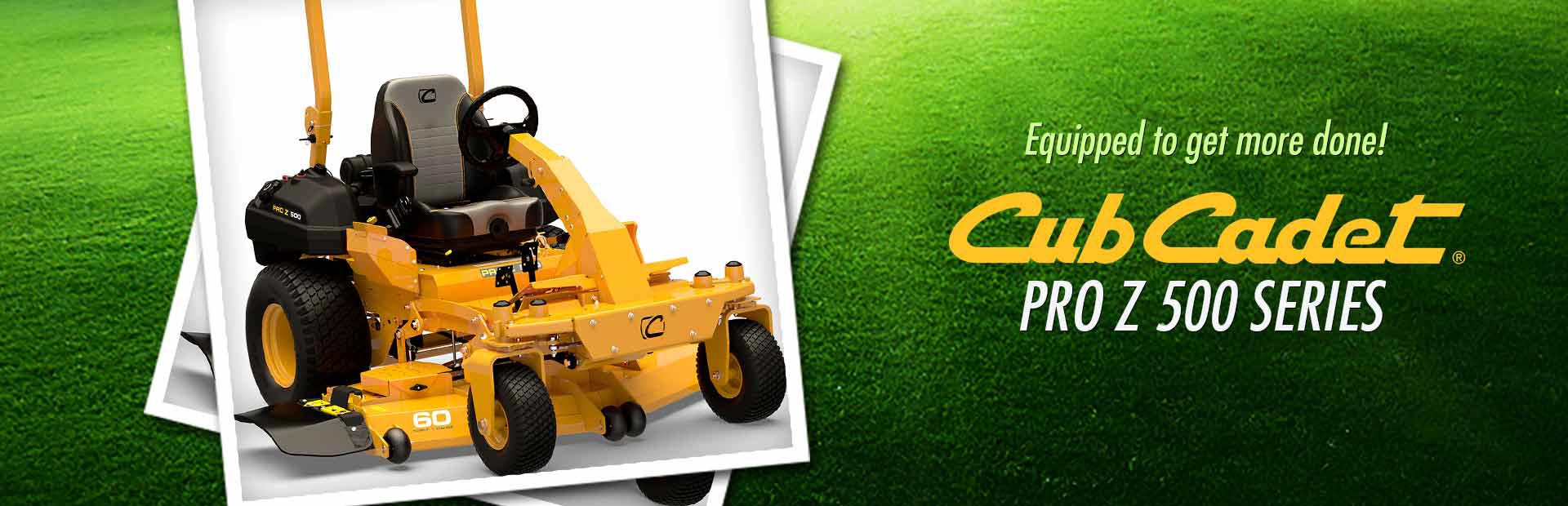 Cub Cadet Pro Z 500 Series: Click here to view the models.