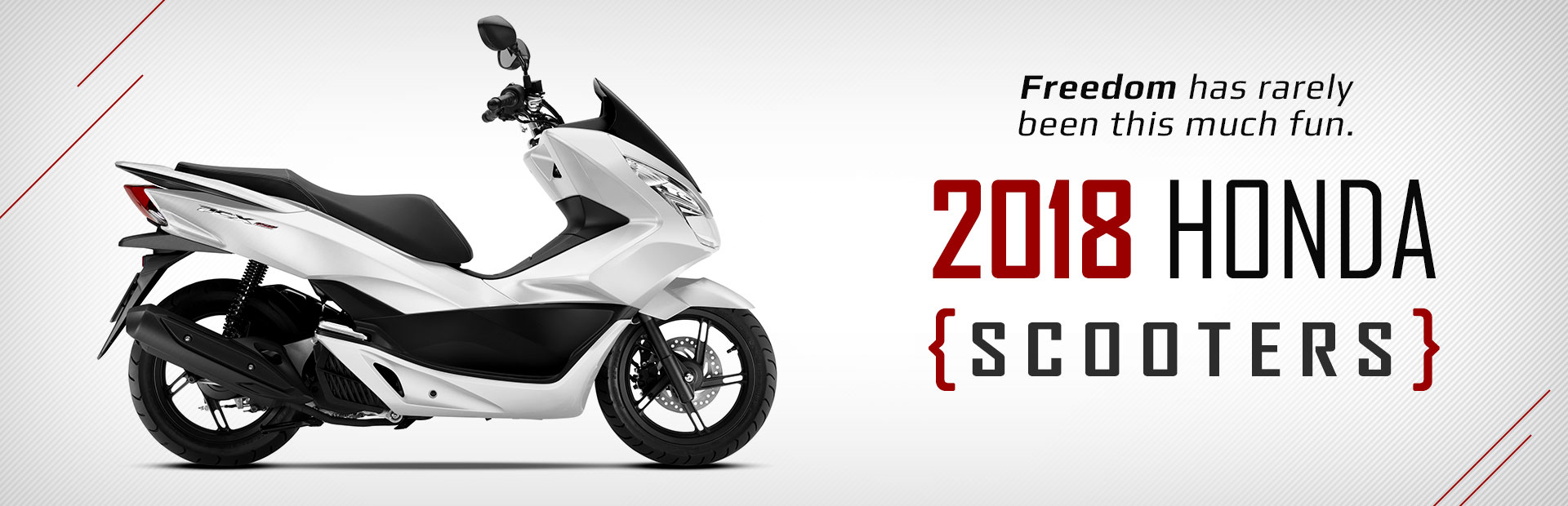 2018 Honda Scooters: Click here to view the models.