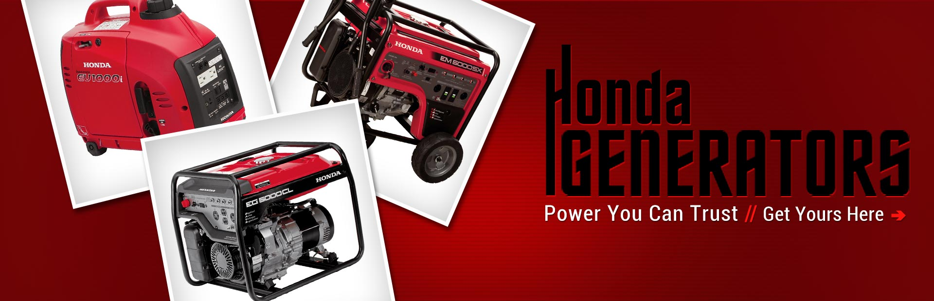Click here to view Honda generators.