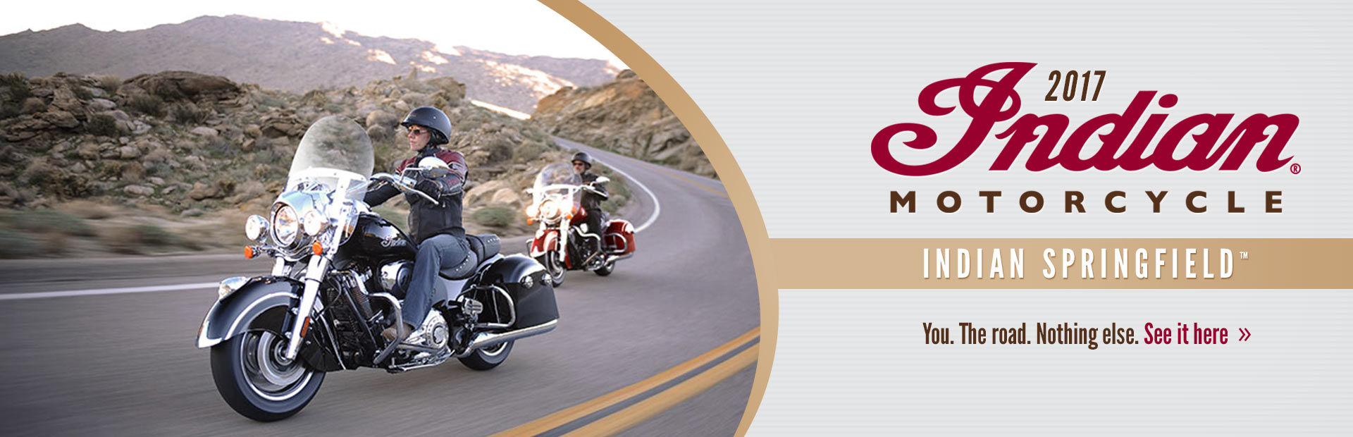 2017 Indian Motorcycle Indian Springfield™: Click here to view the model.