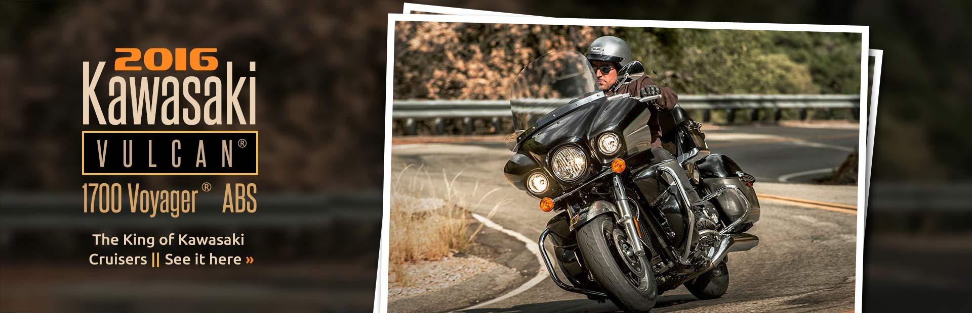 2016 Kawasaki Vulcan® 1700 Voyager® ABS: Click here to learn more about it.