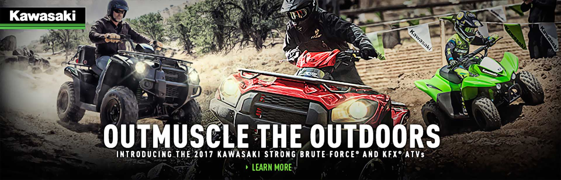 2017 Kawasaki Brute Force and KFX ATVs
