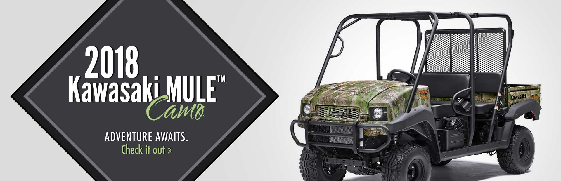 2018 Kawasaki MULE™ Camo: Click here to view the model.