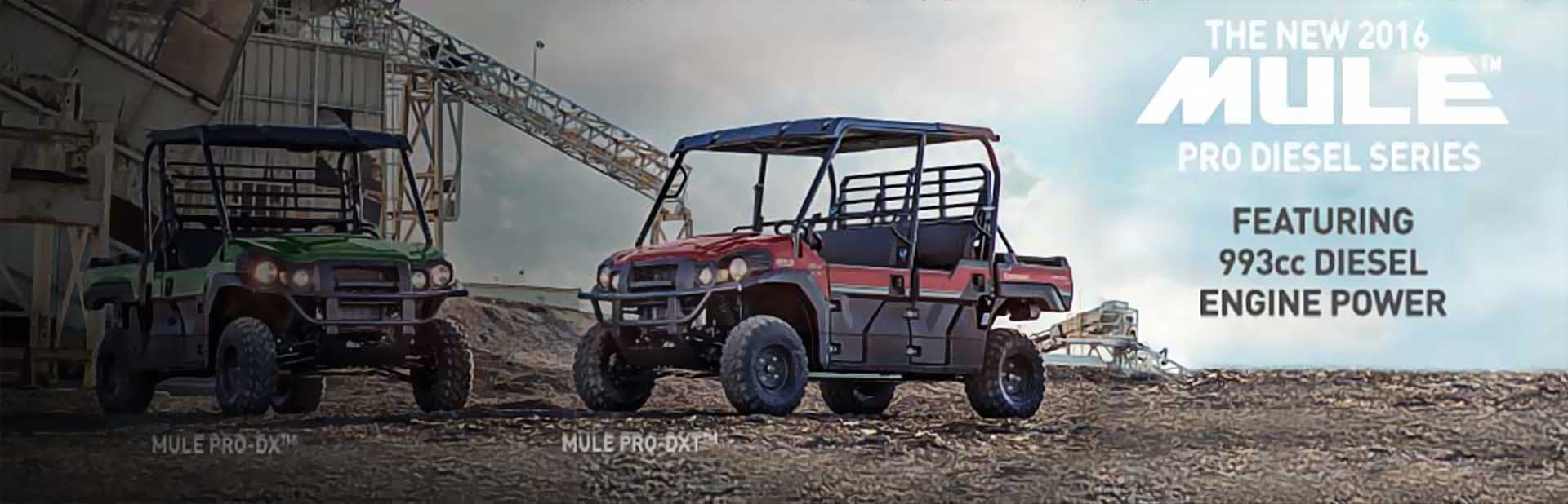 2016 Mule Pro Diesel: Click here to view the model.