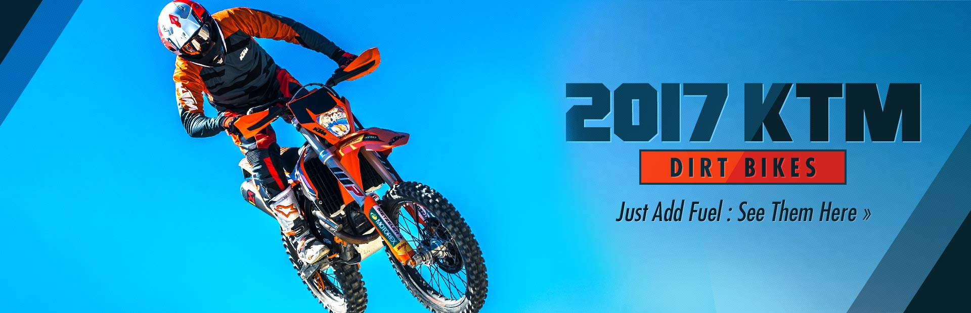 2017 KTM Dirt Bikes: Click here to view the models.