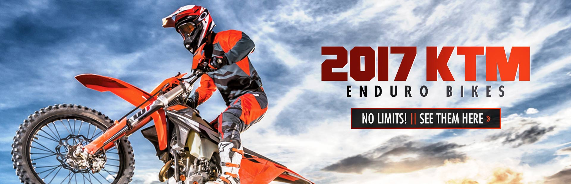 2017 KTM Enduro Bikes: Click here to view the models.