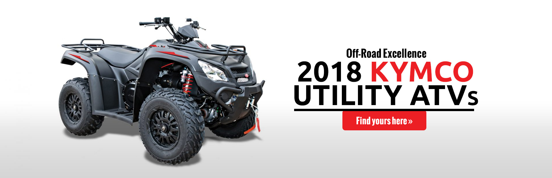 2018 KYMCO Utility ATVs: Click here to view the lineup.