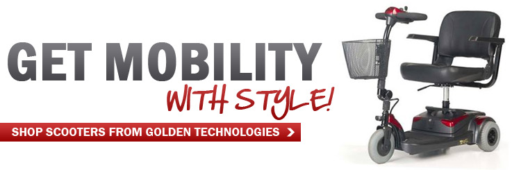 Get mobility with style! Click here to shop scooters from Golden Technologies.