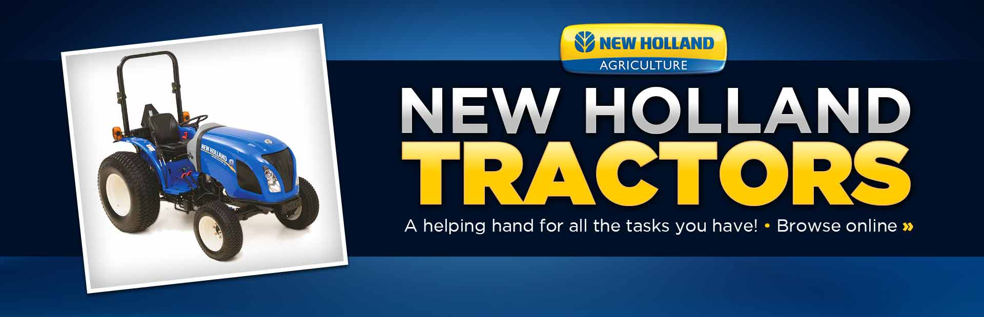 Click here to view New Holland tractors.