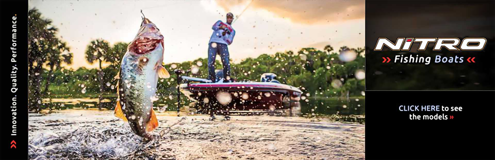 Nitro Fishing Boats: Click here to view our selection.