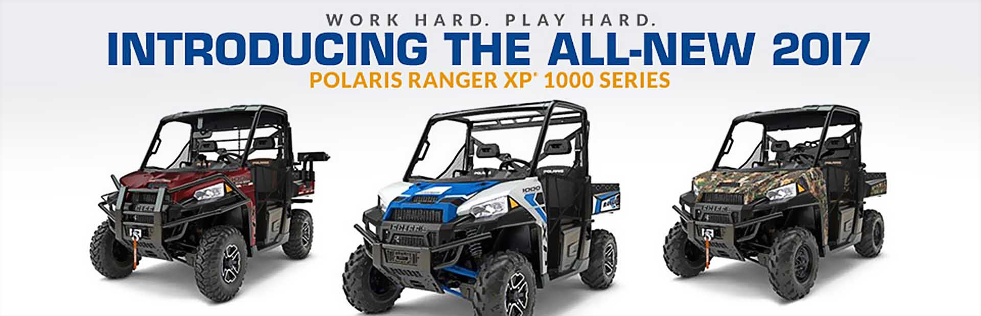 Work hard and play hard with 2017 Polaris RANGER XP® 1000 series side x sides! Click here to view th