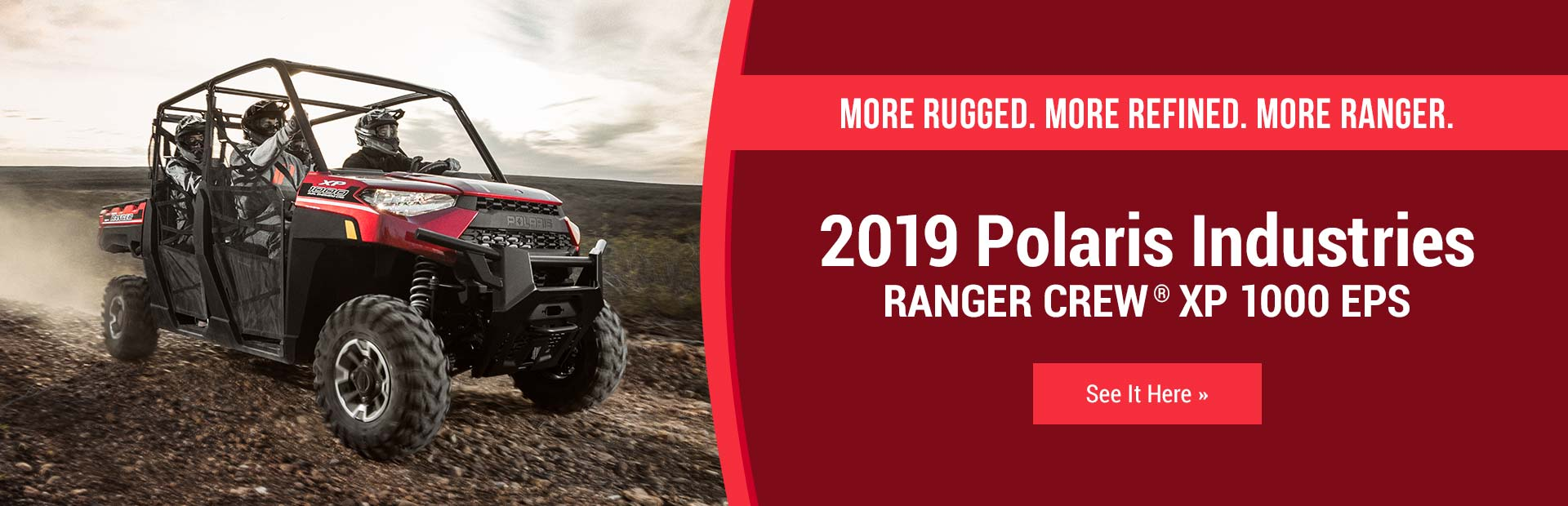 2019 Polaris Industries RANGER CREW® XP 1000 EPS: Click here to view the model.