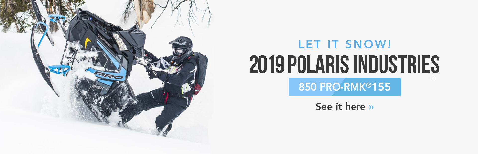 2019 Polaris Industries 850 PRO-RMK® 155: Click here to view the model.
