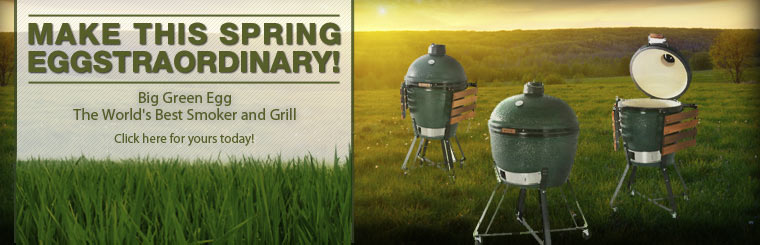 Make this spring eggstraordinary with a Big Green Egg, the world's best smoker and grill! Click here for yours today.