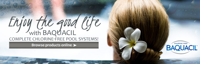 Enjoy the good life with Baquacil complete chlorine-free pool systems. Click here to view products online.