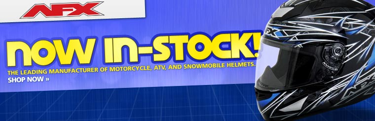 AFX motorcycle, ATV, and snowmobile helmets are now in stock! Click here to shop now.