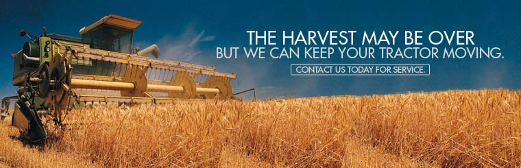 The harvest may be over, but we can keep your tractor moving. Contact us today for service.