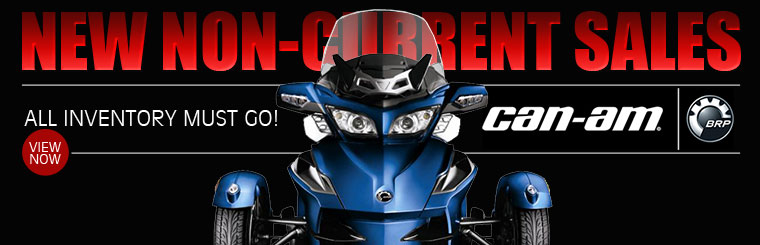 New Non-Current Sales: Click here to view Can-Am Spyders. All inventory must go!