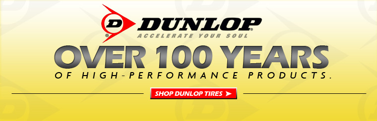 Dunlop high performance motorcycle tires