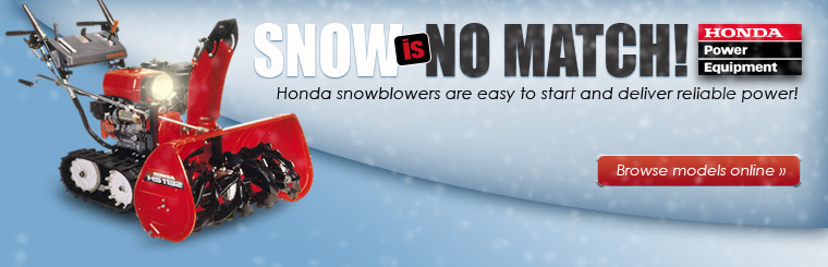 Honda snowblowers are easy to start and deliver reliable power. Click here to browse models online.