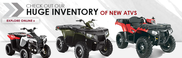Click here to check out our huge inventory of new Polaris ATVs!