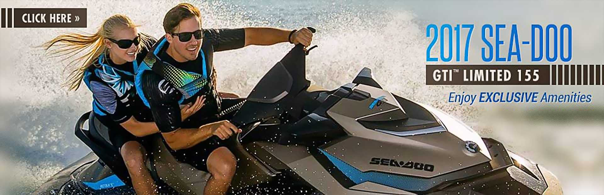 The 2017 Sea-Doo GTI™ Limited 155: Click here for details.