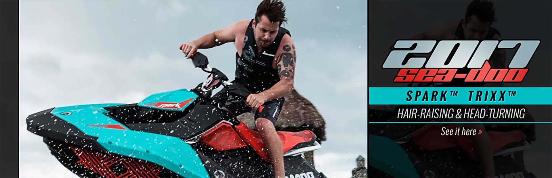 The 2017 Sea-Doo SPARK™ TRIXX™: Click here for details.