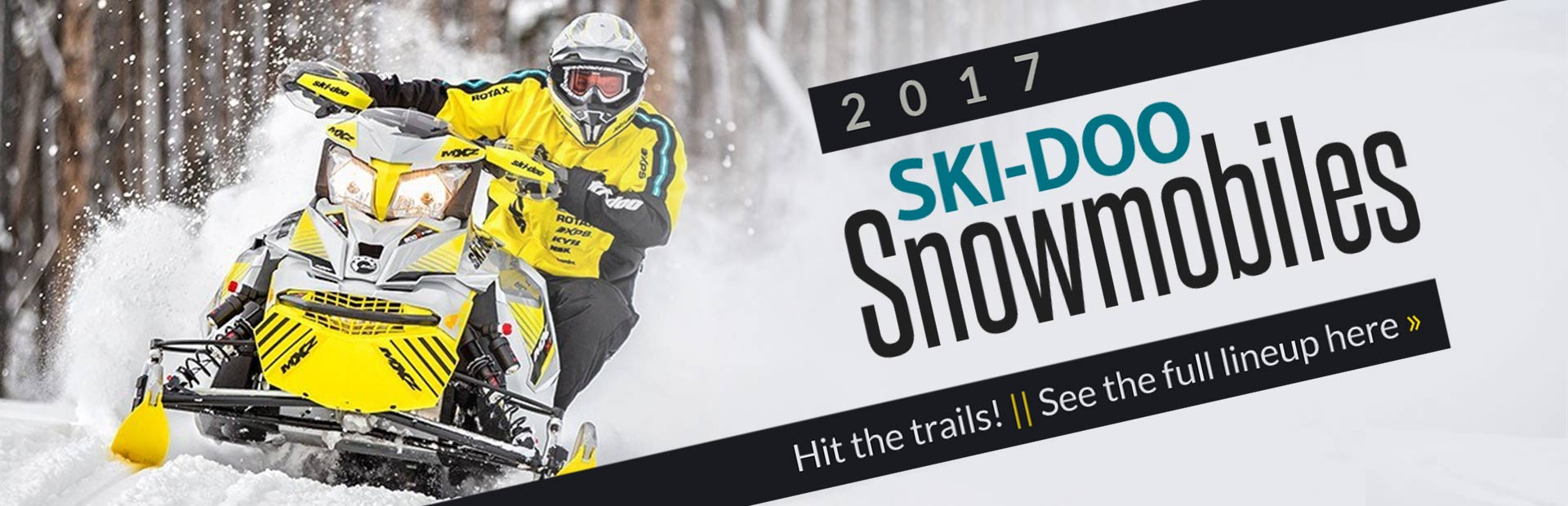2017 Ski-Doo Snowmobiles: Click here to see the full lineup!