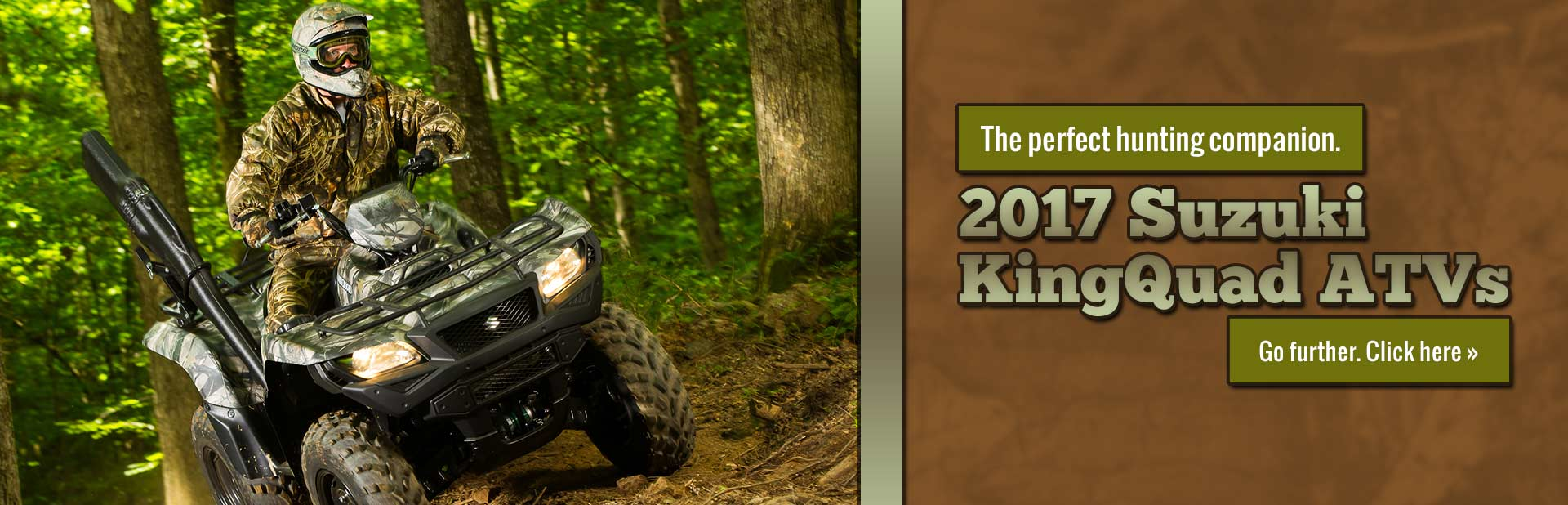 Click here to view our selection of 2017 Suzuki KingQuad ATVs!
