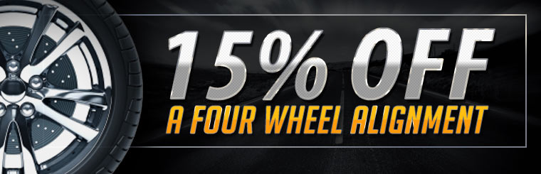 15% Off a Four Wheel Alignment: Click here for the coupon!