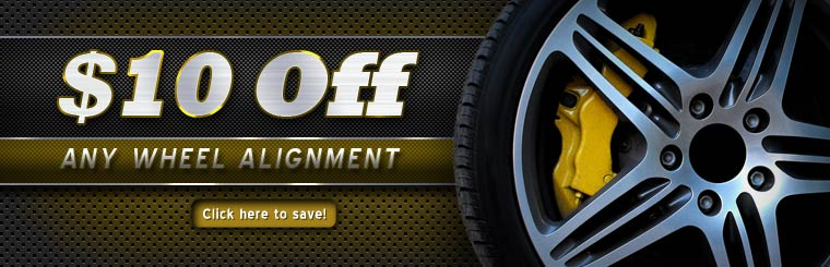 $10 Off Any Wheel Alignment: Click here for the coupon!