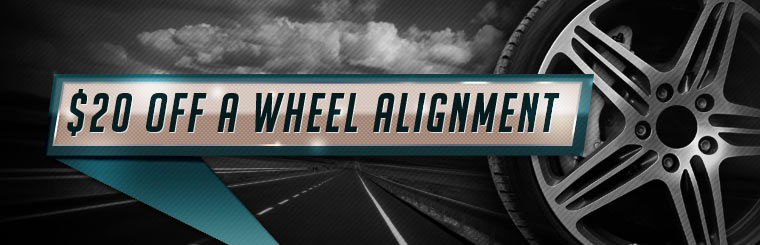 $20 Off a Wheel Alignment: Click here for the coupon!