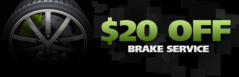 $20 Off Brake Service: Click here for the coupon!