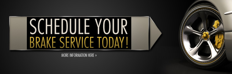 Schedule your brake service today. Click here for more information.