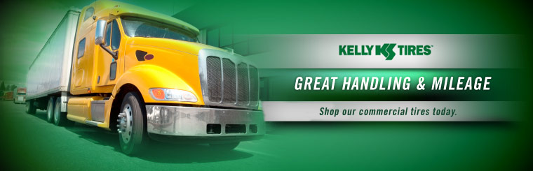 Kelly commercial tires have great handling and mileage. Shop our commercial tires today.