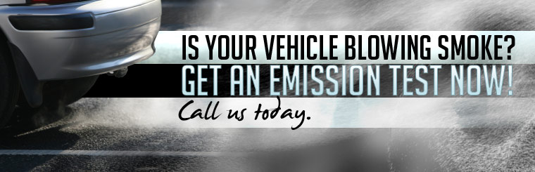 Is your vehicle blowing smoke? Call us today to get an emission test.