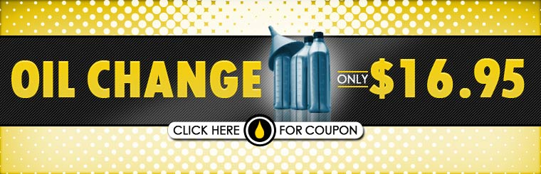 Get an oil change for only $16.95! Click here for the coupon.