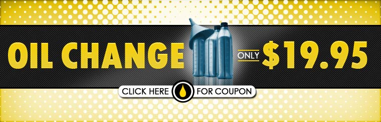Get an oil change for only $19.95! Click here for the coupon.