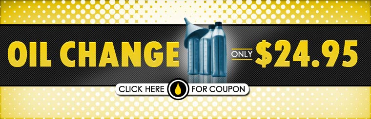 Get an oil change for only $24.95! Click here for the coupon.