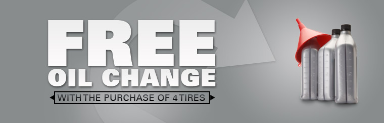 Get a free oil change with the purchase of four new tires! Click here for the coupon.