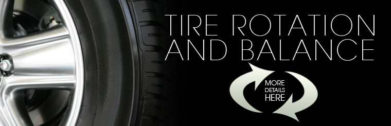Click here for details on tire rotations and balancing.