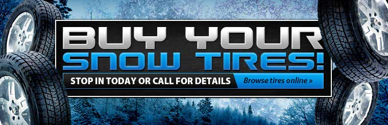 Click here to browse snow tires. SAVE now when you purchase a set of 4 winter tires.