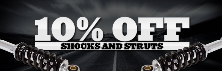 Take 10% off shocks and struts. Click here for a coupon.
